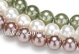 CSB21 16 inches 16mm round shell pearl beads Wholesale
