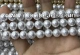 CSB2111 15.5 inches 10mm ball shell pearl beads wholesale