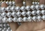 CSB2112 15.5 inches 12mm ball shell pearl beads wholesale