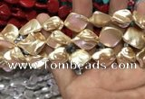 CSB2162 15.5 inches 16*16mm - 18*20mm baroque shell pearl beads
