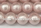 CSB2232 15.5 inches 8mm round wrinkled shell pearl beads wholesale