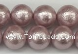 CSB2243 15.5 inches 10mm round wrinkled shell pearl beads wholesale