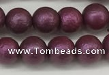 CSB2252 15.5 inches 8mm round wrinkled shell pearl beads wholesale
