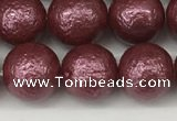 CSB2263 15.5 inches 10mm round wrinkled shell pearl beads wholesale