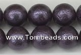 CSB2272 15.5 inches 8mm round wrinkled shell pearl beads wholesale