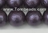CSB2274 15.5 inches 12mm round wrinkled shell pearl beads wholesale