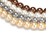 CSB23 16 inches 10mm round shell pearl beads Wholesale
