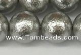 CSB2306 15.5 inches 16mm round wrinkled shell pearl beads wholesale