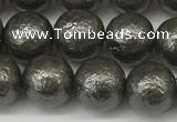 CSB2322 15.5 inches 8mm round wrinkled shell pearl beads wholesale