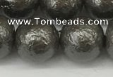 CSB2326 15.5 inches 16mm round wrinkled shell pearl beads wholesale