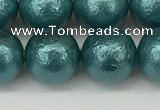 CSB2335 15.5 inches 14mm round wrinkled shell pearl beads wholesale