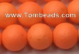 CSB2433 15.5 inches 10mm round matte wrinkled shell pearl beads