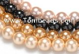 CSB28 16 inches 10mm round shell pearl beads Wholesale