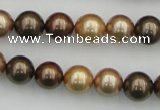 CSB342 15.5 inches 10mm round mixed color shell pearl beads