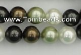 CSB362 15.5 inches 12mm round mixed color shell pearl beads