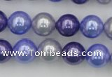CSB369 15.5 inches 12mm round mixed color shell pearl beads