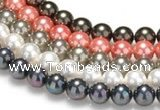 CSB40 16 inches 14mm round shell pearl beads Wholesale