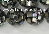 CSB4024 15.5 inches 12mm ball abalone shell beads wholesale