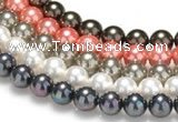 CSB41 16 inches 16mm round shell pearl beads Wholesale