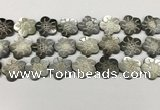 CSB4108 15.5 inches 20mm carved flower abalone shell beads
