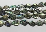 CSB4140 15.5 inches 18*25mm flat teardrop abalone shell beads