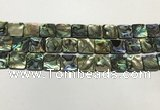CSB4146 15.5 inches 14*14mm square abalone shell beads wholesale