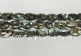 CSB4162 15.5 inches 13*18mm flat drum abalone shell beads wholesale