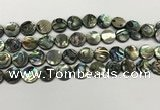 CSB4170 15.5 inches 12*12mm coin abalone shell beads wholesale