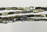CSB4176 15.5 inches 8*16mm trihedron abalone shell beads wholesale
