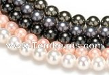 CSB42 16 inches 8mm round shell pearl beads Wholesale