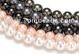 CSB46 16 inches 16mm round shell pearl beads Wholesale