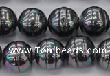 CSB638 15.5 inches 16mm whorl round shell pearl beads