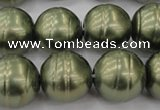 CSB647 15.5 inches 18mm whorl round shell pearl beads