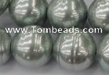 CSB661 15.5 inches 22mm whorl round shell pearl beads