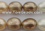 CSB678 15.5 inches 16*19mm oval mixed color shell pearl beads