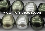 CSB718 15.5 inches 16*19mm oval mixed color shell pearl beads