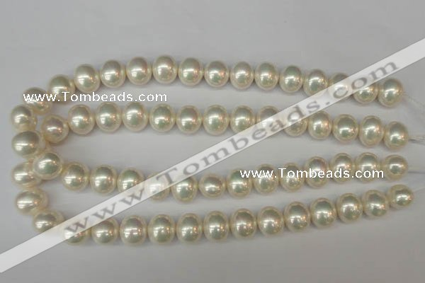 CSB800 15.5 inches 13*15mm oval shell pearl beads wholesale
