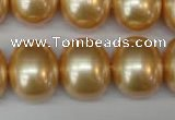 CSB827 15.5 inches 16*19mm oval shell pearl beads wholesale