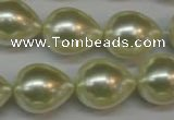 CSB876 15.5 inches 16*22mm teardrop shell pearl beads wholesale