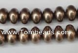 CSB905 15.5 inches 8*12mm rondelle shell pearl beads wholesale