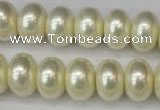 CSB910 15.5 inches 11*15mm rondelle shell pearl beads wholesale