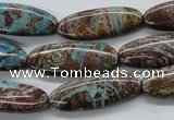CSD47 15.5 inches 10*28mm oval dyed stripe jasper gemstone beads