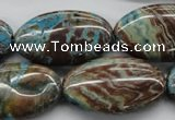 CSD48 15.5 inches 18*30mm oval dyed stripe jasper gemstone beads