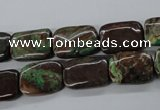 CSD66 15.5 inches 10*14mm rectangle dyed stripe jasper beads