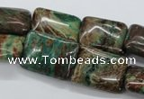 CSD67 15.5 inches 15*20mm rectangle dyed stripe jasper beads