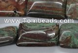 CSD68 15.5 inches 20*30mm rectangle dyed stripe jasper beads