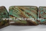 CSD69 15.5 inches 25*35mm rectangle dyed stripe jasper beads