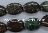 CSD80 15.5 inches 13*18mm oval dyed stripe jasper gemstone beads