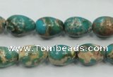 CSE05 15.5 inches 10*14mm teardrop natural sea sediment jasper beads