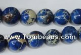 CSE300 15.5 inches 8mm - 18mm round dyed sea sediment jasper beads